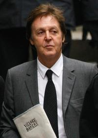 Paul McCartney at the High Court in London.
