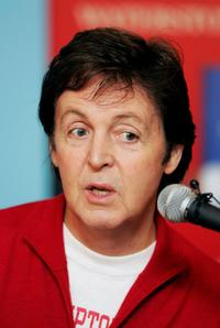 Paul McCartney at the signing of