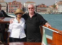 Michael Caine and wife Shakira at the 64th Annual Venice Film Festival.