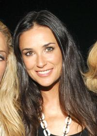 Demi Moore at the Mercedes-Benz Fashion Week Spring 2008, attend the V Magazine Celebrates Mario Testino party.