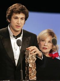 Jeanne Moreau and Guillaume Canet at the 32nd Cesars Film awards.