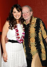 Zooey Deschanel and Willie Nelson at the 10th Annual Maui Film Festival.