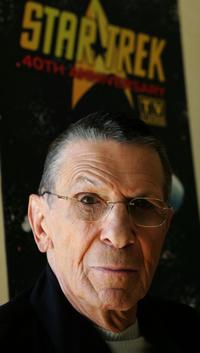 Leonard Nimoy at the 40th Anniversary of Star Trek on the TV Land network.
