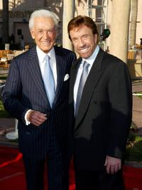 Bob Barker and Chuck Norris at the Academy of Television Arts and Sciences Hall of Fame Induction Ceremony.