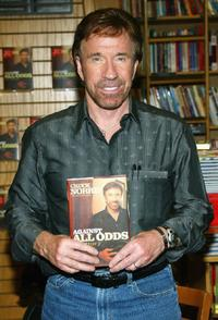 Chuck Norris at the signing of his new book