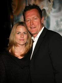 Barbara Patrick and her husband Robert Patrick at the premiere of
