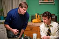 Director Gus Van Sant and Sean Penn on the set of