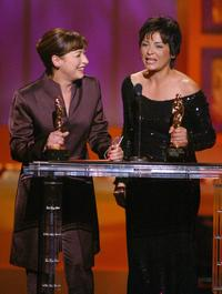 Elizabeth Pena and Elpidia Carrillo at the 2002 ALMA Awards.