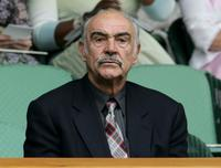 Sean Connery at the Wimbledon Lawn Tennis Championship.