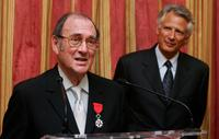 Harold Pinter and French Prime Minster Dominique de Villepin in London.
