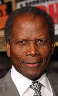Sidney Poitier at the premiere of
