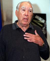 Anthony Quinn speaks at the Organization of American States at a news conference.