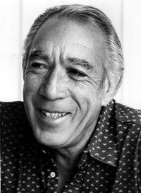 Anthony Quinn for a photograph in Mexico.