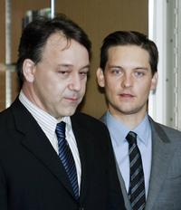 Sam Raimi and Tobey Maguire at the photocall of