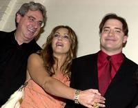 Harold Ramis, Elizabeth Hurley and Brendan Fraser at the Los Angeles premiere of