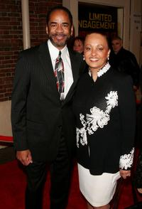 Tim Reid and his wife at the opening night of