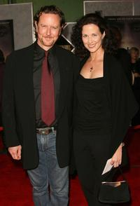 Judge Reinhold and his wife Amy Miller at the premiere of