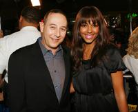 Paul Reubens and Marsha Thomason at the premiere of
