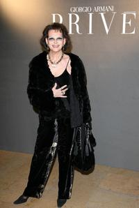 Claudia Cardinale at the Giorgio Armani Prive Spring/Summer 2008 Haute Couture Collection Show.