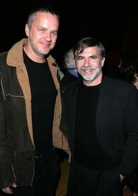 Tim Robbins and Dan Klores at the New York after party of