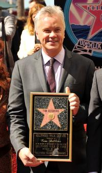Tim Robbins at the Hollywood Walk of Fame.