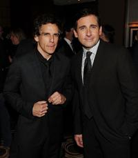 Ben Stiller and Steve Carell at the after party of the New York premiere of