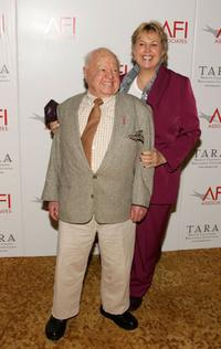 Mickey Rooney and Jan Rooney at the AFI Associates luncheon honoring Hollywood's Arquette family.