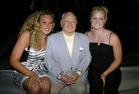 Mickey Rooney, Kaitlin Sandeno and Diana McManus at the cocktail reception to announce USA Swimming's Mutual of Omaha Duel in the Pool.