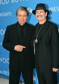 Edward James Olmos and Carlos Santana at the 2006 Hollywood Bowl Hall of Fame Inductees Concert.
