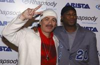 Carlos Santana and Robert Randolph at the Santana's celebration launch party for his new CD