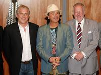 John Meglen, Carlos Santana and Oscar Goodman at the Hard Rock Hotel & Casino to celebrate the new USD 60 million concert venue's completion.