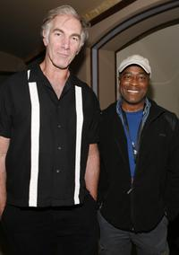 John Sayles and Charles Burnett at the after-party for the opening night of