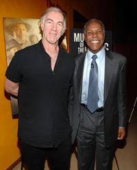 John Sayles and Danny Glover at the celebration in their honor from the Museum of Moving Image at The Times Center.