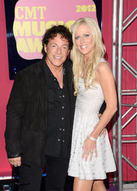 Neal Schon and Michaele Salahi at the 2012 CMT Music Awards in Tennessee.