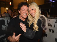 Neal Schon and Michaele Salahi at the Journey and Rascal Flatts headline the Super Bowl XLVII CMT Crossroads Concert in Louisiana.
