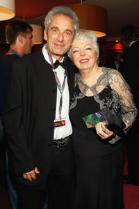 Christian Routh and Thelma Schoonmaker at the world premiere of