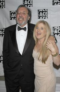 Nancy Cartwright and James L. Brooks at the 55th ACE Eddie Awards.