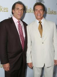 Arnold Schwarzenegger and Robert Davi at the Los Angeles screening of