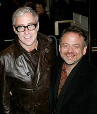 Scott Wittman and Marc Shaiman at the opening night of