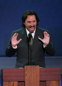 Ron Silver at the 2004 Republican National Convention at Madison Square Garden in New York City.