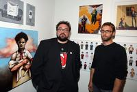 Kevin Smith and Scott Mosier at the opening night of