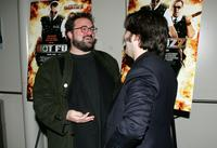 Kevin Smith and Edgar Wright at the screening of