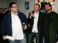 Kevin Smith, Nick Frost and Simon Pegg at the screening of