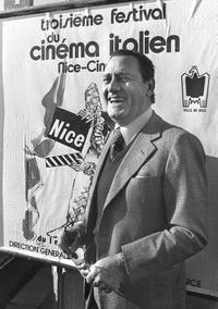 Alberto Sordi at the Italian Film Festival in Nice (Nizza).