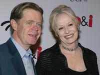 William H. Macy and Penelope Spheeris at the premiere of