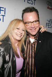 Penelope Spheeris and Producer Tom Arnold at the world premiere of