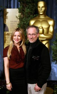 Steven Spielberg and his daughter Jessica at the 79th annual Academy Awards Nominees luncheon.