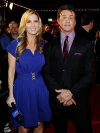 Alicia Jacobs and Sylvester Stallone at the screening of