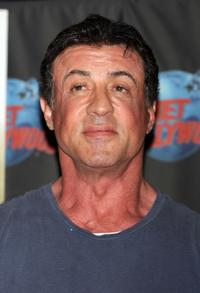 Sylvester Stallone at the memorabilia from