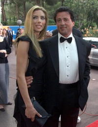 Sylvester Stallone and Jennifer Flavin at the Laureus Sports Awards in Monaco.